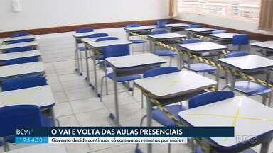 Governo decide adiar a volta das aulas presenciais na rede estadual de ensino - As aulas continuarão de forma remota, de acordo com o secretário Renato Feder, por mais uma ou duas semanas.