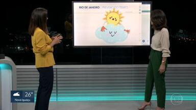 Fim de semana no Rio será de sol entre nuvens - A temperatura fica na casa dos trinta graus.