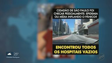 Notícias falsas compartilhadas na internet dizem que hospitais no Brasil estão vazios - Levantamento do G1 aponta que só em março, ao menos 30 pessoas com Covid morreram à espera de uma vaga de UTI em SP.