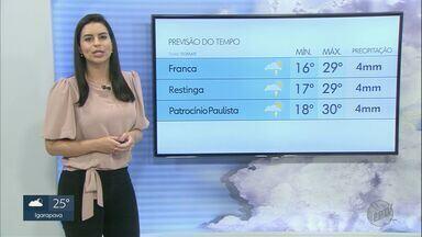 Veja a previsão do tempo para sábado (13) na região de Ribeirão Preto - Há chance de chuva e mínimas chegam a 16°C.