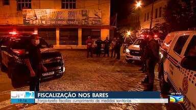 Polícia fiscaliza cumprimento de decreto contra bares e restaurantes em São Luís - Ao vivo, o repórter Werton Araújo deu mais informações.
