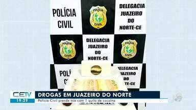 Polícia Civil prende trio com um quilo de cocaína em Juazeiro do Norte - Confira mais notícias em g1.globo.com/ce