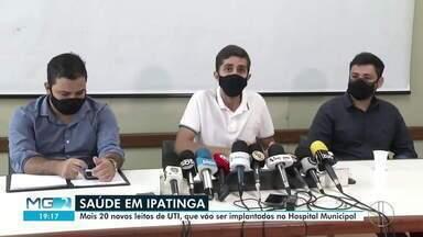 Prefeito de Ipatinga anuncia chegada de novos leitos de UTI - Serão implantados mais 20 leitos de UTI no Hospital Municipal.