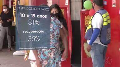 Jovens de até 19 anos são a maioria dos infectados pela Covid-19 em Barbacena - Pesquisa foi realizada pelo IF Sudeste. Até esta sexta-feira, município tem 3.958 casos confirmados e 91 óbitos.