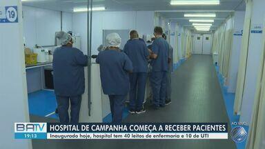 Novo hospital de campanha para atender pacientes com Covid-19 é inaugurado em Salvador - Unidade conta com 40 leitos clínicos e mais 10 leitos de UTI.