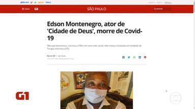 Edson Montenegro, ator de 'Cidade de Deus', morre de Covid-19 - 'Meu pai descansou', escreveu a filha em uma rede social. Ator estava entubado em Unidade de Terapia Intensiva (UTI).