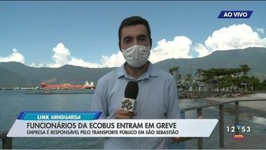 Funcionários do transporte público de São Sebastião entram em greve - Maior parte da frota não circula nesta terça.