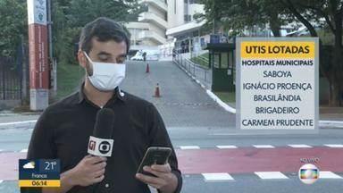 21 hospitais da Região Metropolitana de SP estão com 100% dos leitos de UTI ocupados - 21 hospitais da Região Metropolitana de SP estão com 100% dos leitos de UTI ocupados