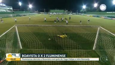 Fluminense vence Boa Vista por 2 a 0 no Campeonato Carioca - Tricolor mantém 100% de aproveitamento com técnico Roger Machado
