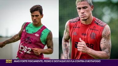 Mais forte fisicamente, Pedro é destaque do Flamengo contra o Botafogo - Mais forte fisicamente, Pedro é destaque do Flamengo contra o Botafogo