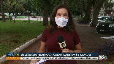 Calamidade pública para 66 municípios do Paraná é aprovada - Deputados aprovaram os pedidos de calamidade na sessão de ontem (23).