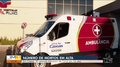 Em Caxias, 20 pessoas morreram de covid em 10 dias - 30 pessoas testaram positivo para Covid-19, nas últimas 24h.
