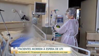 Pacientes morrem à espera de UTI, em São Paulo - Em São Paulo, pacientes sofrem com a falta de leitos em unidades de terapia intensiva. Só na região metropolitana, 114 pessoas já morreram na fila da UTI.