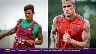 Pedro bombado: centroavante ganhou 7 kilos de massa muscular no Flamengo - Pedro bombado: centroavante ganhou 7 kilos de massa muscular no Flamengo