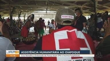 Cruz Vermelha e Embaixada da França ofertam ajuda humanitária em Oiapoque - Entidades ofereceram alimentos e medicamentos para indígenas e povos tradicionais da região.