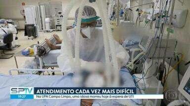 Estado de SP tem cerca de 30 mil pessoas internadas para tratar de Covid-19 - Ocupação de leitos de UTI está em 92,3%.