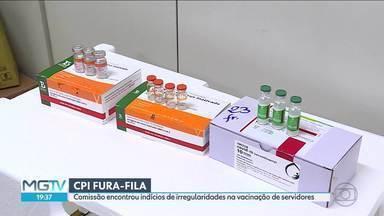 Comissão encontrou indícios de irregularidades na vacinação de servidores da Saúde - Segundo o presidente da comissão, o deputado João Vítor Xavier, do Cidadania, houve mudança de protocolo para beneficiar servidores.
