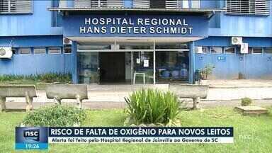 Hospital Regional de Joinville alerta para risco de falta oxigênio para novos leitos - Hospital Regional de Joinville alerta para risco de falta oxigênio para novos leitos