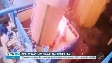 Polícia investiga explosão em tanque de cloro que matou trabalhador em Pedreira - Profissionais terceirizados trabalhavam na Estação de Tratamento de Água do Serviço Autônomo de Água e Esgoto (SAAE) no momento do acidente.