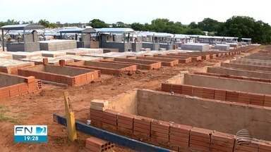 Quase 50% das mortes por Covid-19 em Dracena são registradas em março - Prefeitura concluiu novas sepulturas no cemitério municipal.