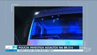 Polícia investiga tentativas de assalto na BR-316, em Bom Jardim - Durante a noite, uma caminhonete da Polícia Rodoviária Federal e outros veículos foram atacados por bandidos.