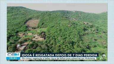 Idosa de 72 anos é resgatada depois de 7 dias perdida em Alcântaras - Confira mais notícias em g1.globo.com/ce