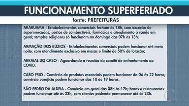 Confira as medidas para o 'superferiado' em cidades do interior do Rio - Feriado de 10 dias para conter o avanço da Covid-19 começa nesta sexta-feira (26) e vai até o dia 4 de abril.