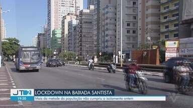 Baixada Santista mantém 65% dos moradores dentro de casa no primeiro dia de lockdown - Parte da população não cumpriu o isolamento na terça-feira (23).