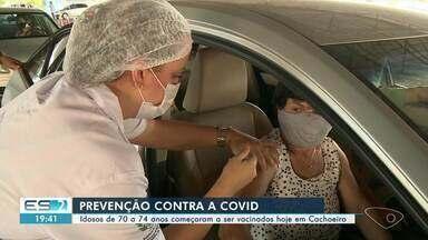Idosos de 70 a 74 anos começam a ser vacinados no Sul do ES - Confira a seguir.