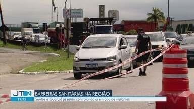 Cidades da região começam a implantar barreiras sanitárias - Iniciativa tem como objetivo evitar a entrada de turistas da capital paulista.