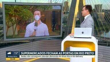 Média de mortes por Covid-19 triplicou em Presidente Prudente - E supermercados de 4 redes fecharam as portas em São José do Rio Preto.