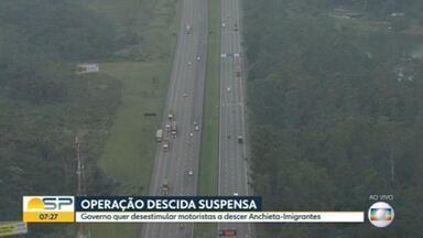 Secretário de logística e transportes de SP comenta suspensão da operação descida ao litoral - João Otaviano também falou sobre nova rodovia, que será construída com destino ao Porto de Santos.
