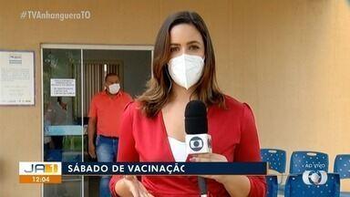Idosos com mais de 70 anos começam a ser vacinados contra a Covid-19 em Palmas - Idosos com mais de 70 anos começam a ser vacinados contra a Covid-19 em Palmas