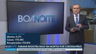 Paraná divulga mais 184 mortes por Covid-19 no boletim deste sábado (27) - Em Curitiba, foram mais 30 mortes divulgadas pela Prefeitura.