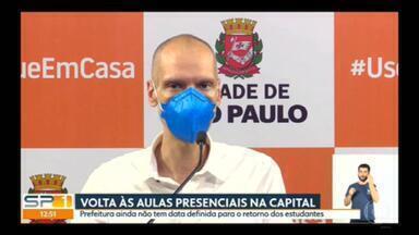 Prefeitura da capital ainda não tem data para volta presencial das escolas - Em entrevista online, Bruno Covas disse que o retorno dos estudantes depende da Vigilância Sanitária.
