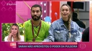 Sarah explica por que não aproveitou 'poder' da pulseira branca - Brasiliense diz que foi inocente porque não queria influenciar votos das pessoas, mas não esperava 'traição' de Rodolffo