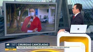 Hospital do Câncer de Presidente Prudente cancela cirurgias eletivas - Medida foi tomada por causa do avanço da pandemia na cidade.