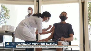 Rio vacina idosos de 68 anos - Prefeitura inaugurou novo ponto de vacinação, no Museu do Amanhã.