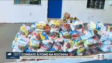 Projeto social leva ajuda a quem mais precisa, na Rocinha - Campanha pretende doar mil cestas básicas para moradores da comunidade.
