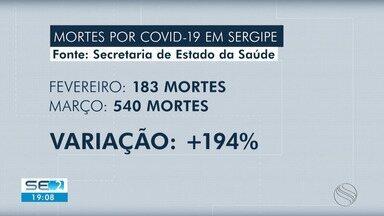Março foi o segundo mês mais letal da pandemia da Covid-19 em Sergipe - Março foi o segundo mês mais letal da pandemia da Covid-19 em Sergipe