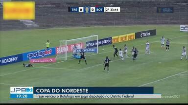 Treze vence Botafogo no clássico paraibano pela Copa do Nordeste - Partida aconteceu na tarde desta quinta-feira (1º) em Taguatinga, no Distrito Federal.