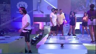 Fiuk é eliminado da Prova do Líder Maratona de Dança C&A - Fiuk é eliminado da Prova do Líder Maratona de Dança C&A