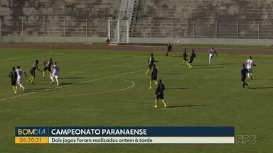 Veja como foi o desempenho dos times paranaenses pelo campeonato estadual - Dois jogos foram realizados ontem à tarde.