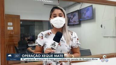Homem é preso em Guajará-Mirim no desdobramento da Operação Xeque Mate - Foram encontrados mercúrio e drogas em um dos quartos de uma pensão.