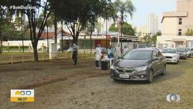 Começa testagem rápida para Covid-19 em crianças e adolescentes, em Goiás - Em Goiânia, o trabalho será feito no sistema drive-thru.