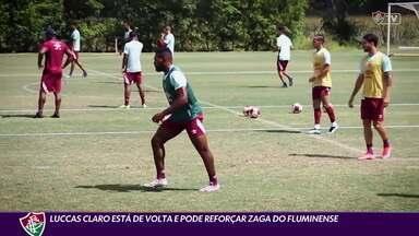 Luccas Claro está de volta e pode reforçar a zaga do Fluminense - Luccas Claro está de volta e pode reforçar a zaga do Fluminense