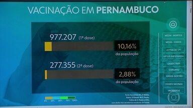 Confira o número de vacinados contra a Covid-19 em Pernambuco até esta quarta-feira - Araçoiaba ampliou vacinação para quem tem a partir de 60 anos e Olinda começou a imunizar quem tem a partir de 63 anos.