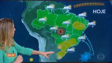 Previsão é de temporal para o Mato Grosso e leste da Bahia nesta quinta-feira - Tempo deve ficar firme em quase todo o Centro-Sul do Brasil. Confira a previsão do tempo completa para todo o Brasil.