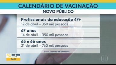 Governo de SP atualiza tabela de vacinas - Foram estipuladas datas para vacinação de idosos a partir dos 65 anos.