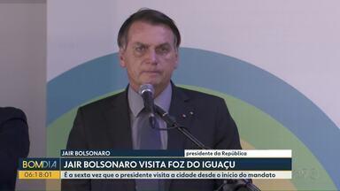 Presidente vai a Foz do Iguaçu oficializar troca de comando na Itaipu - Ele também participou da inauguração de nova pista no Aeroporto Internacional da cidade.